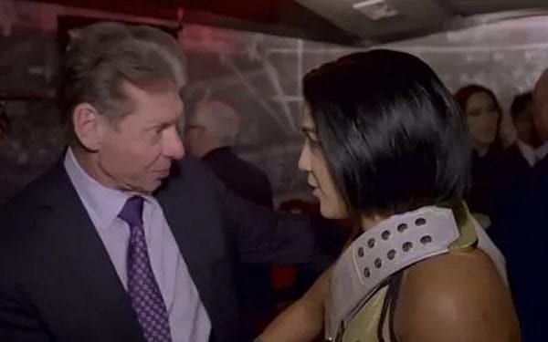 Bayley and Vince McMahon