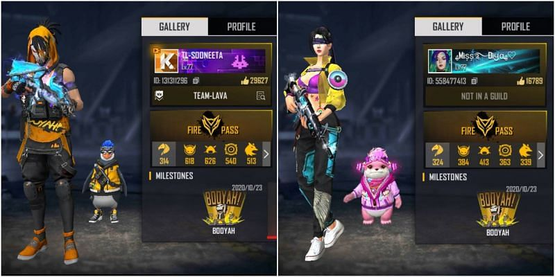 Who has better stats between Sooneeta and BlackPink Gaming in Free Fire?