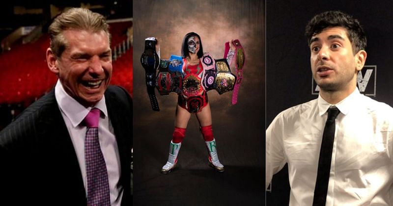 Vince McMahon, Thunder Rosa, and Tony Khan.