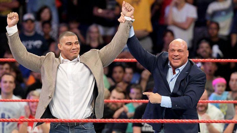 Jason Jordan and Kurt Angle