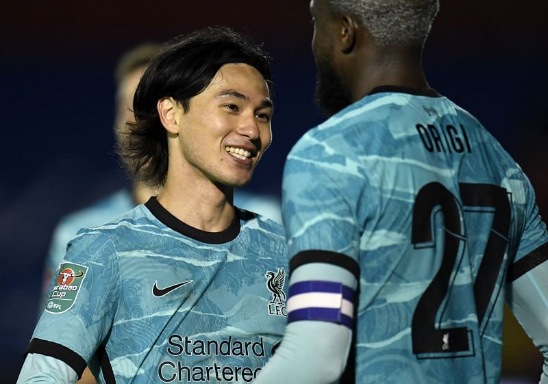 One of Minamino or Origi could feature in the starting XI.