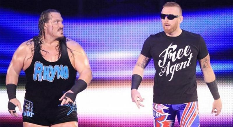 Rhyno and Heath are two of the participants in the Call Your Shot Gauntlet Match