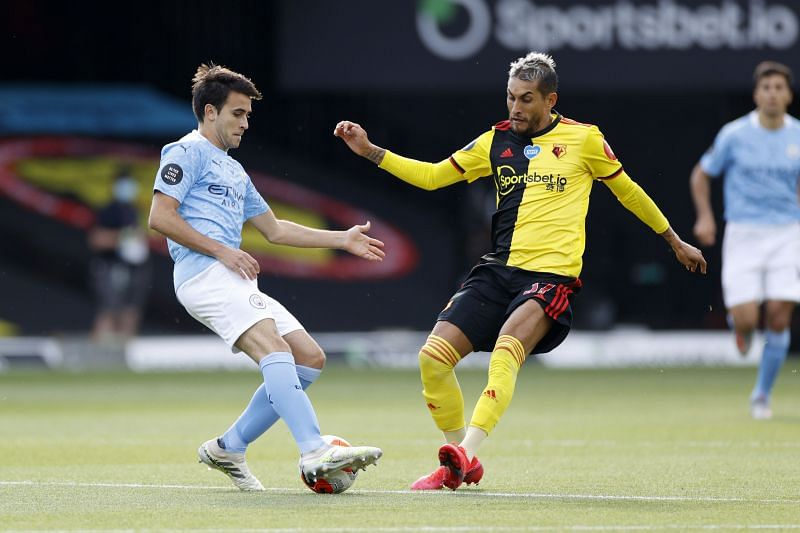 Garcia in action for City