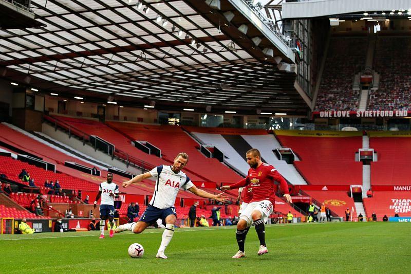 Harry Kane of Tottenham Hotspur celebrates after scoring