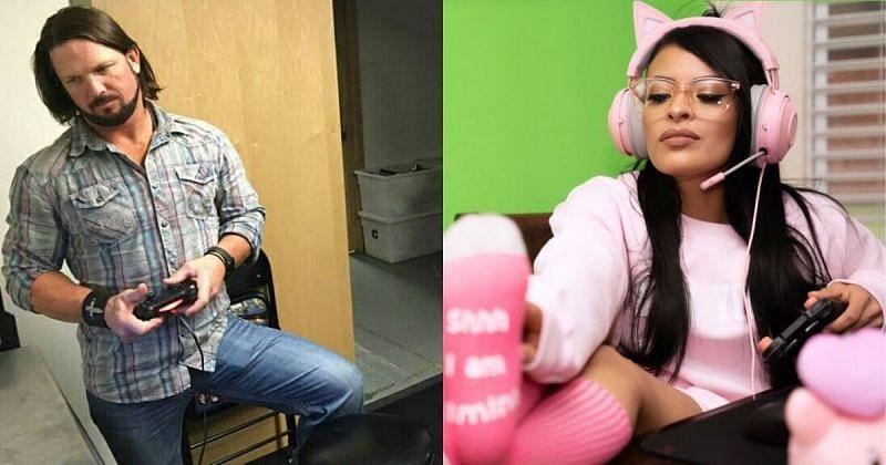 AJ Styles and Zelina Vega.