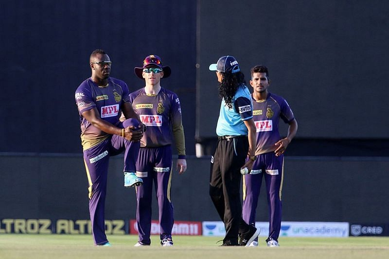 Paschim Pathak was one of the two on-field umpires for the IPL 2020 match between KKR and SRH. (Image Credits: IPLT20.com)