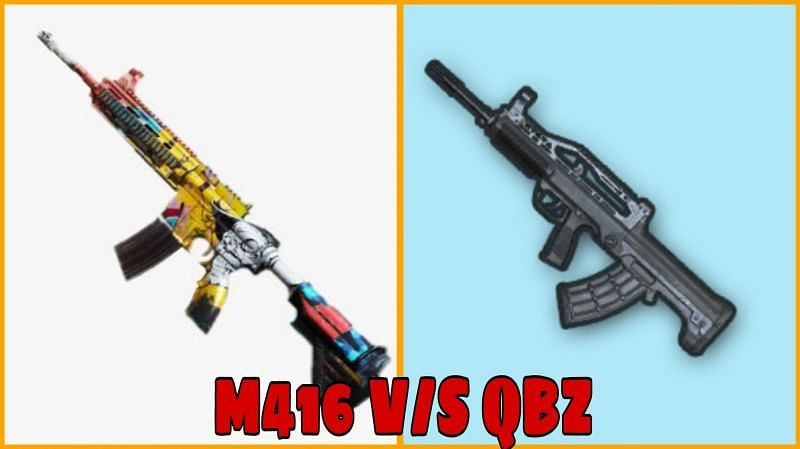 PUBG Mobile: M416 VS QBZ; Which assault rifle is better & Why?