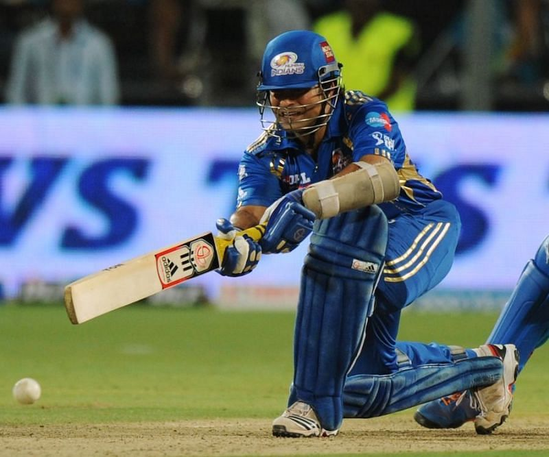 Sachin Tendulkar and Dwayne Smith forged a 163-run opening stand in 2012. (Image Credits: IPLT20.com)