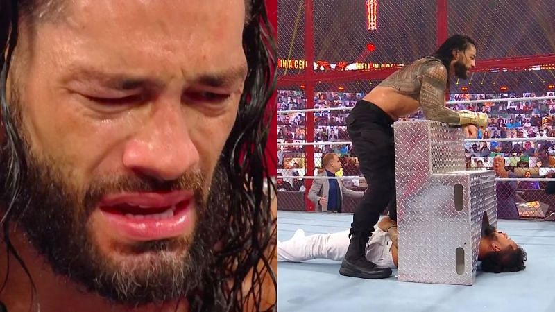Roman Reigns vs Jey Uso at WWE Hell in a Cell