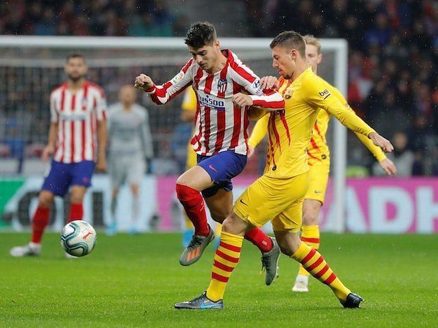 Alvaro Morata got the better of Clement Lenglet in the pair