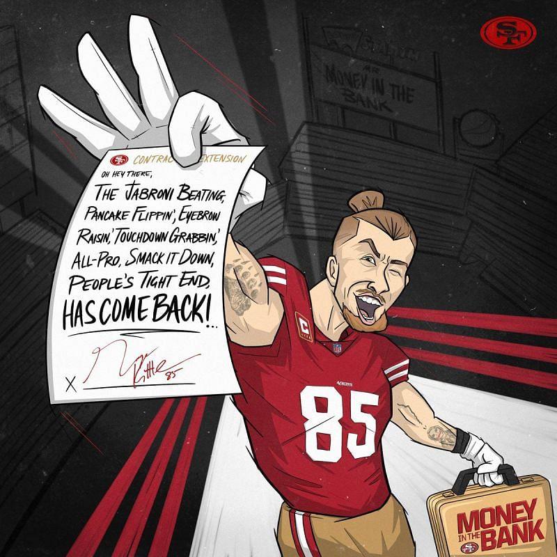 49ers TE George Kittle is a big WWE fan.