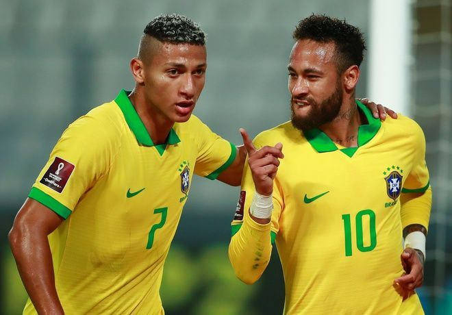 Brazil fought back from 2-1 down to beat Peru 4-2 in Lima in a 2022 FIFA World Cup Qualifier.