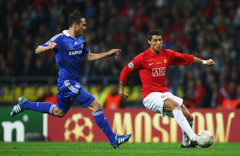 Former Chelsea midfielder Lampard and Cristiano Ronaldo in action