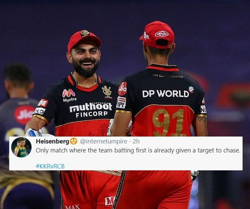 RCB picked up an 8 wicket victory over KKR