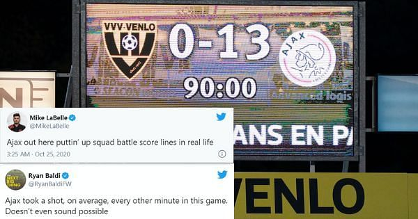 Ajax beat VVV Venlo 13-0