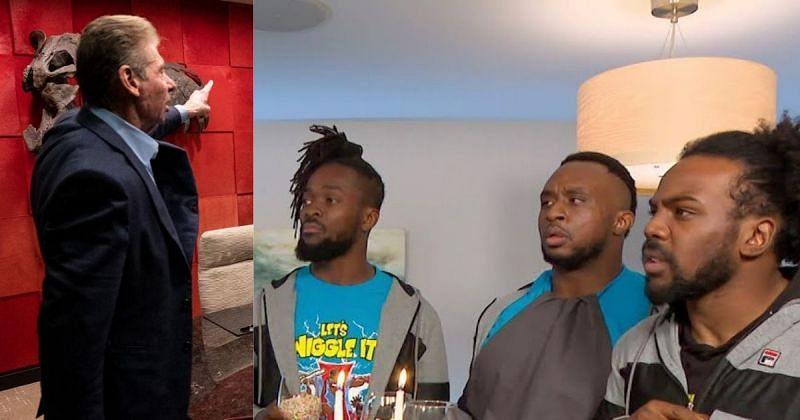 Vince McMahon and The New Day.