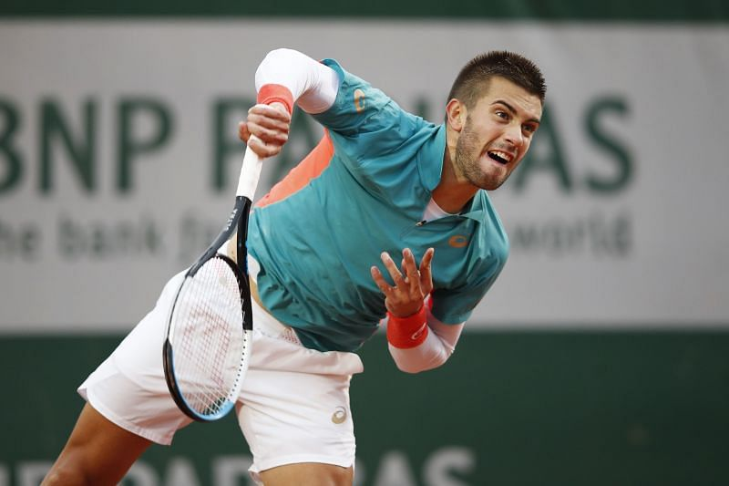 Borna Coric at the 2020 French Open