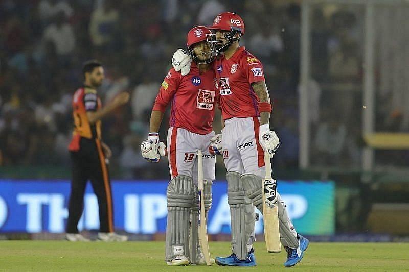 KL Rahul and Mayank Agarwal have stood out for Kings XI Punjab at the top of the order
