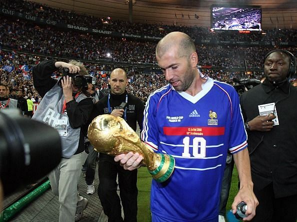 Zidane conquered the football world in 1998