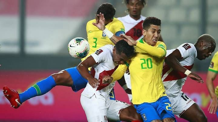 There were times when Brazil lacked defensive composure against Peru.