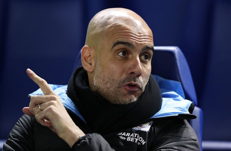 Manchester City manager Pep Guardiola during a game