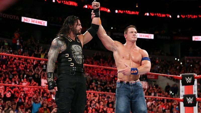 Roman Reigns defeated John Cena at WWE No Mercy 2017