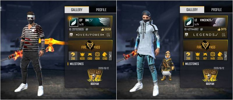 BNL vs Vincenzo: Who has better stats in Free Fire?