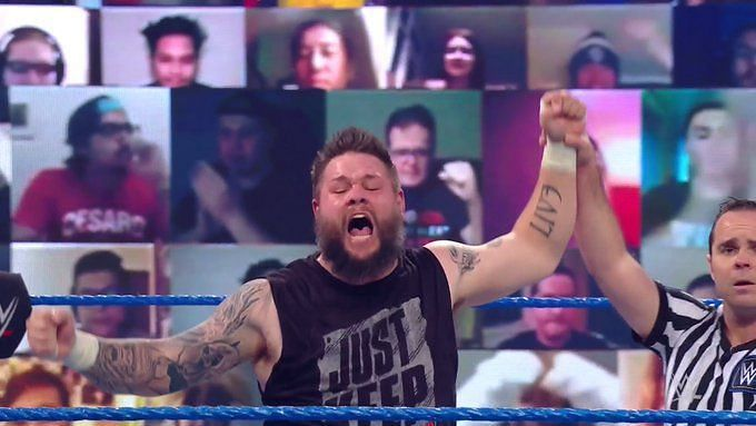 Owens picked up the first win of the night on SmackDown