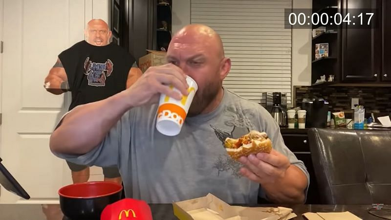 Ryback attempted to break popular competitive eater Matt Stonie