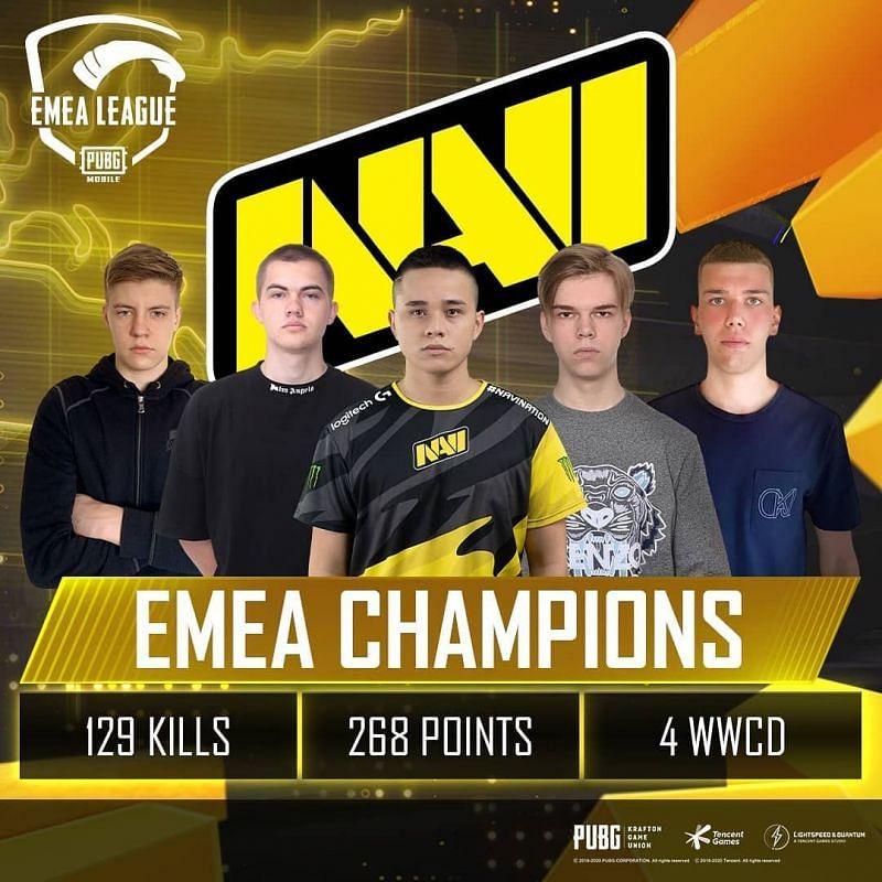 NAVI are the EMEA League champions