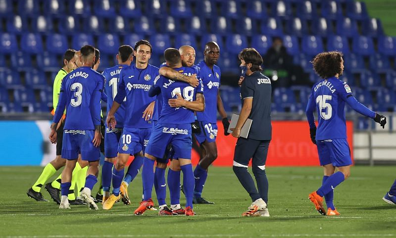 Getafe opened the scoring in the second half