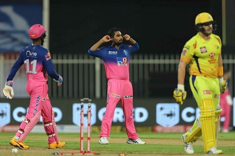 Rahul Tewatia was given only one over by the Rajasthan Royals skipper