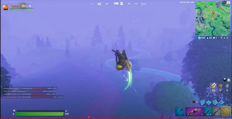 Broomsticks have added an extra option for mobility in Fortnite (Image credits: TrixxZ14/YT)