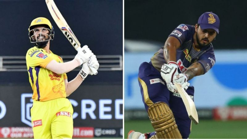 Ruturaj Gaikwad (L) and Nitish Rana played important knocks in the CSK v KKR match