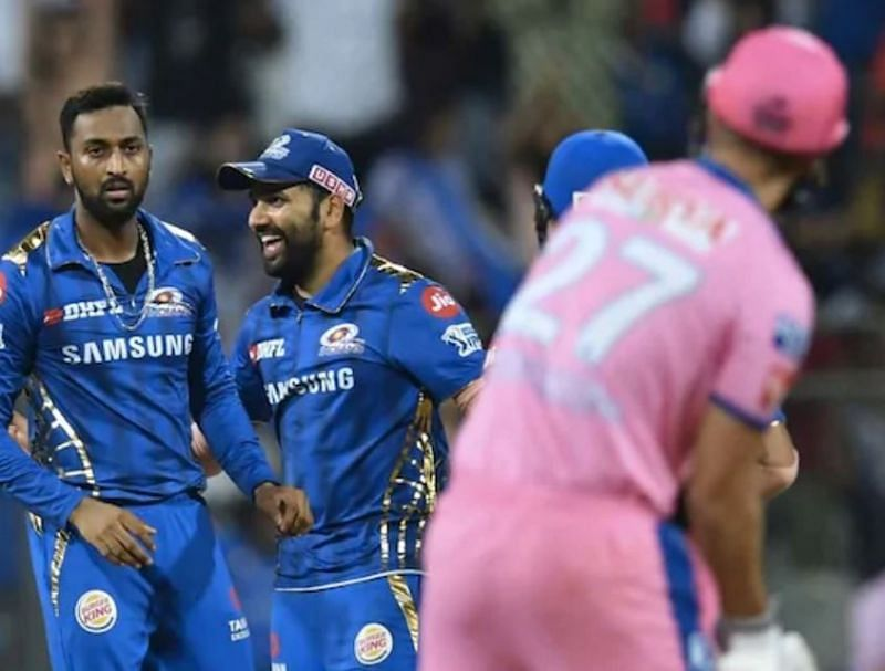 Mumbai Indians, Rajasthan Royals. Pic: IPLT20.COM