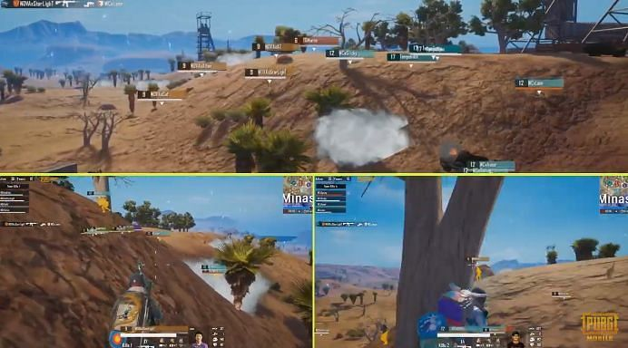 Action from the PMPL Season 2 Americas Day 7