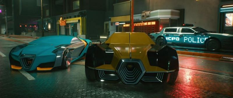 Recently, viewers got a sneak peak at the various vehicle classes that will be available in Cyberpunk 2077 (Image Credits: CD PROJEKT RED, Twitch)