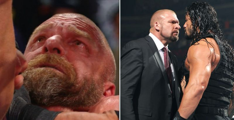 Triple H and Roman Reigns
