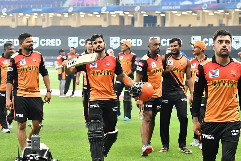 Manish Pandey smashed his third IPL 2020 half-century to help SRH beat RR by 8 wickets (Credits: IPLT20.com)