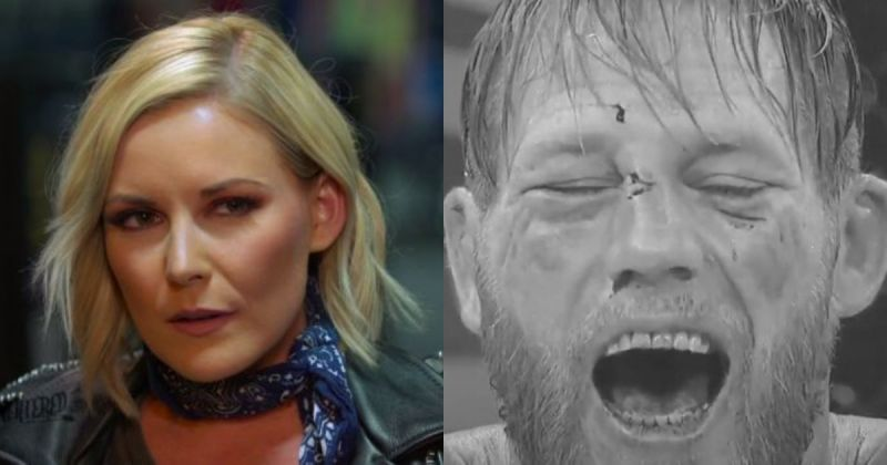 Renee Young and Jake Hager.