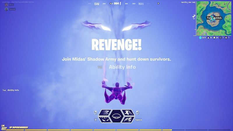 Fortnite players can become a Ghost and haunt survivors in the game (Image credit: Firemonkey/Twitter)