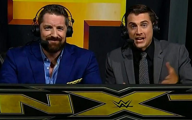 Wade Barrett replaced Mauro Ranallo on commentary in NXT
