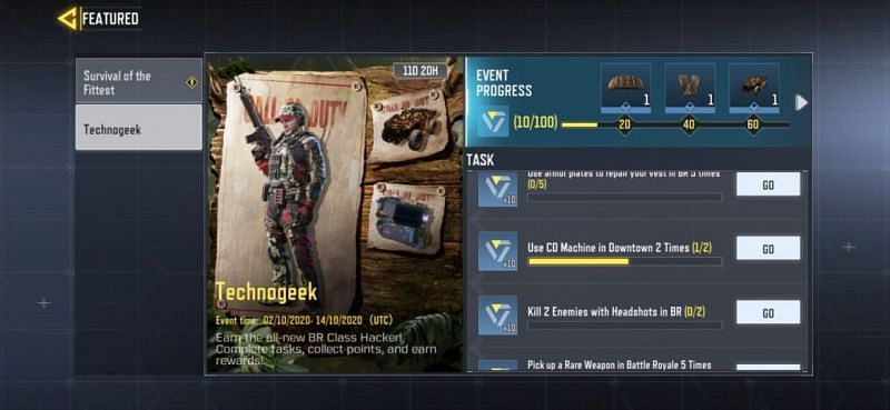 Technogeek event in COD Mobile