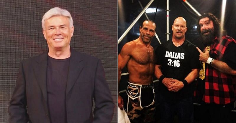 Eric Bischoff; Shawn Michaels, Stone Cold Steve Austin and Mick Foley