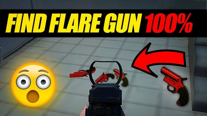 Top 5 possible flare gun locations on the Erangel 2.0 map (Image credits: Baazigar gamingYT)