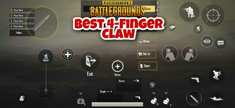 PUBG Mobile Lite: Best 4-finger claw setup