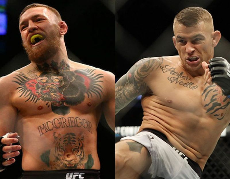 Conor McGregor and Dustin Poirier