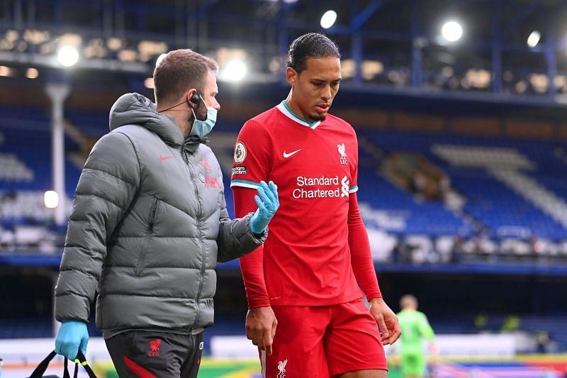 Van Dijk picked up a terrible injury against Everton