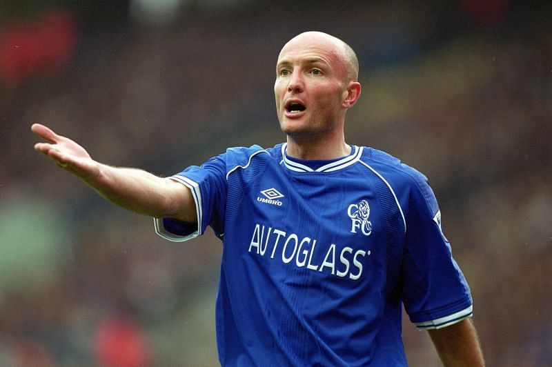 Frank Leboeuf in action for Chelsea
