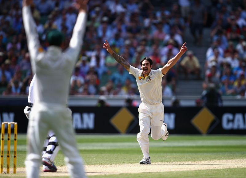 Mitchell Johnson picked up 37 wickets and was the Player of the Series in the 2013-14 Ashes